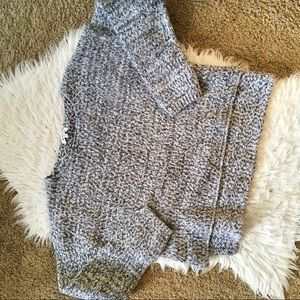 JustFab Thick Gray Womens Pullover Sweater